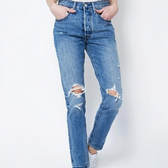 70081e9d048 Levi s 501 Skinny Jeans Old Hangouts Wash